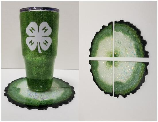 4-H Tumbler & Geode Coasters