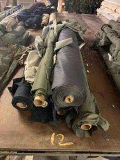 6 rolls cotton fabris (navy & green)