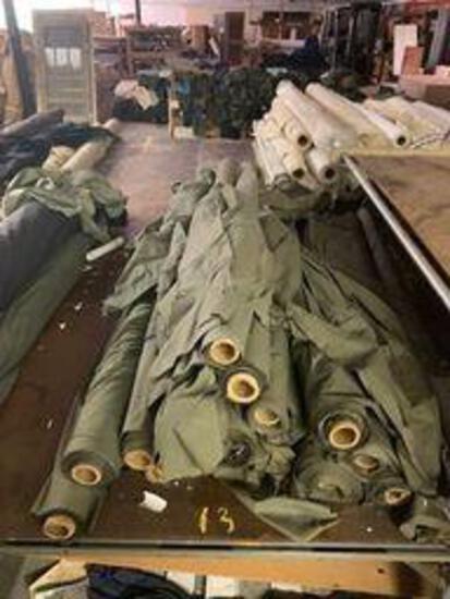 16 rolls green cotton fabric