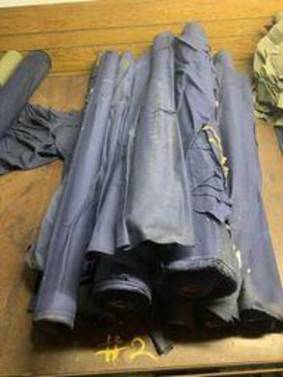 9 rolls cotton blue fabric