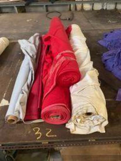 4 rolls misc cotton fabric