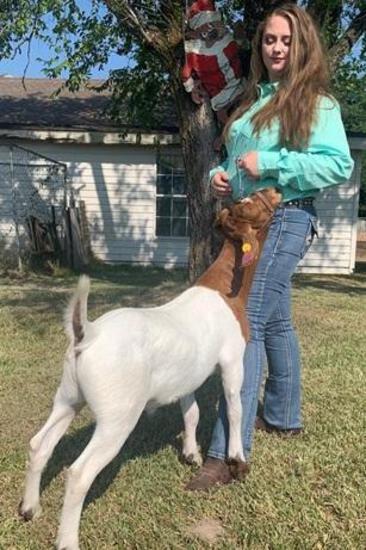 3rd Place Goat & Showmanship - Eryn Eaton - FFA