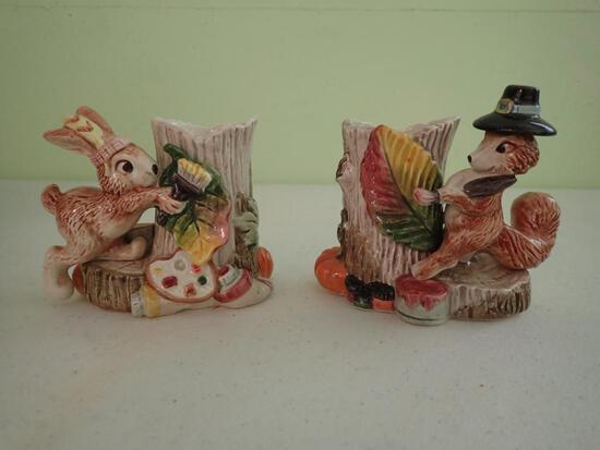Candleholders, Rabbit & Fox