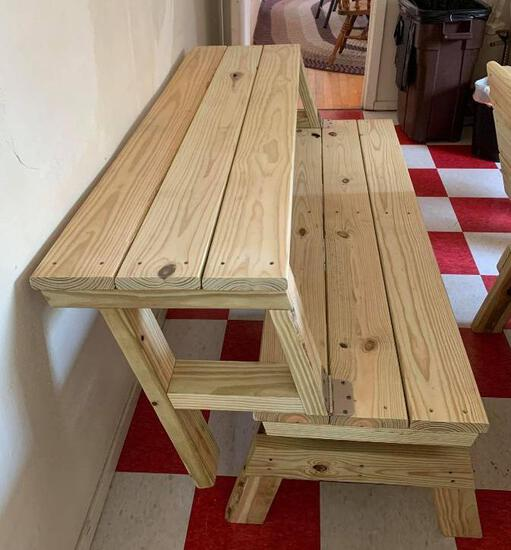 Folding Wood Bench/Table #2