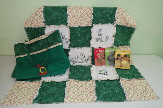 Baby Blanket/Books/Bag