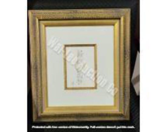 """Original w/ Gold & Black Frame 1'4"""" x 1'2"""""""