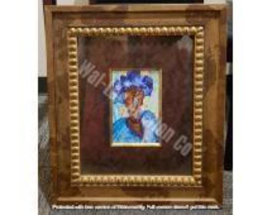 """Original w/ Brown & Godl Frame 1'10"""" x 1'7"""""""