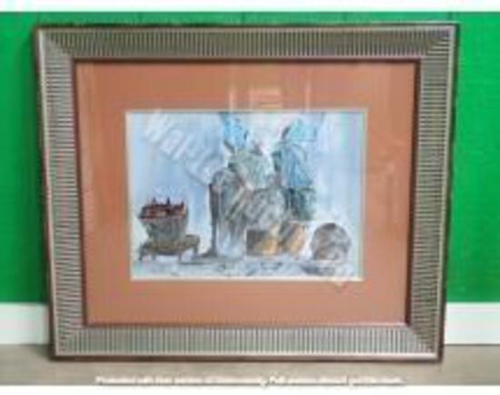 "Original w/ Brown & Silver Frame 2'4"" x 2'9"""