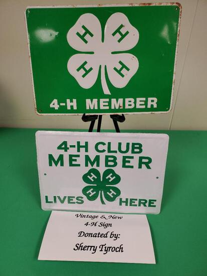 Vintage & New Metal 4-H Signs - Sherry Tyroch