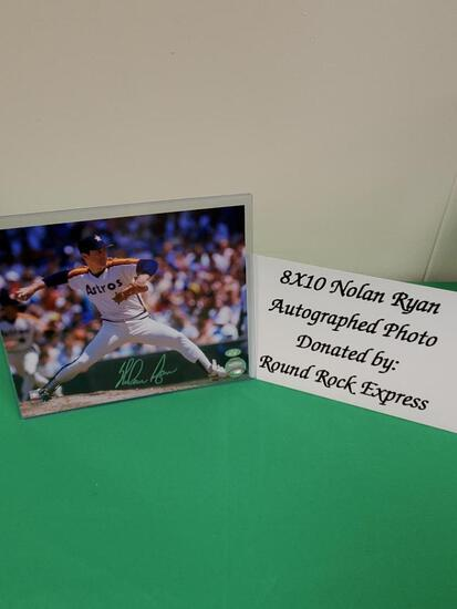 8x10 Nolan Ryan Autographed Photo- Donated by Round Rock Express