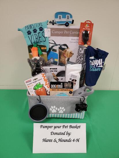 Pamper Your Pet Basket Hares & Hounds 4-H