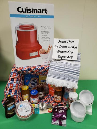 Sweet Treat Ice Cream Basket Rogers 4-H