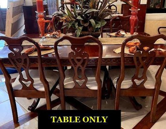"""Pennsylvania House Pedestal Dining Room Table (cherry) with (2) 18"""" leaves"""