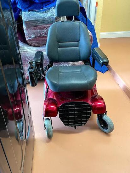 Electric wheelchair maroon