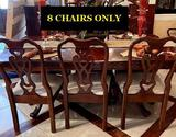 Set of 8 Pennsylvania House Dining room chairs (cherry)