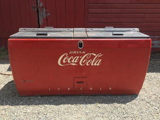 Large 1950s Coca~Cola Double Cooler