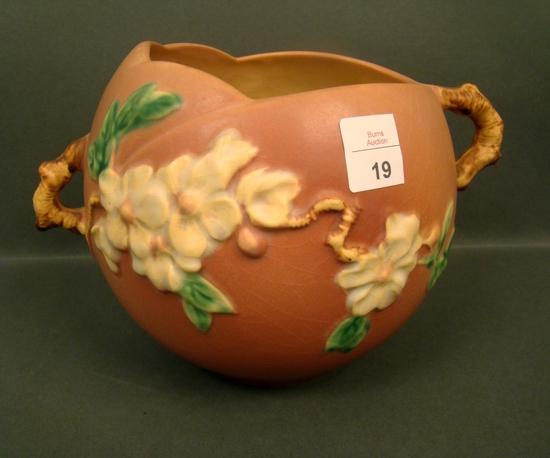 "Roseville Pink Apple Blossom 6"" Vase"