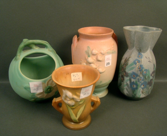 Four Piece Roseville Pottery Lot