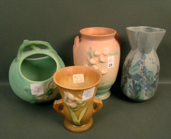 Four Piece Roseville Pottery Lot
