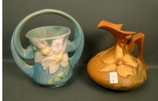 Two Piece Roseville Pottery Lot