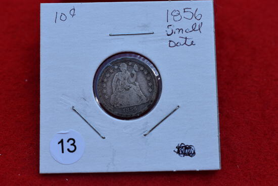 1856 Seated Dime Small Date