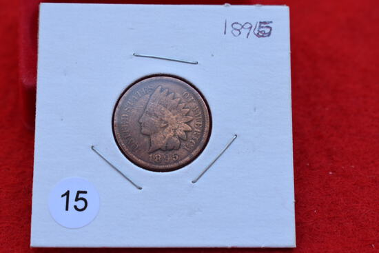 1895 Indian Cent F/vf