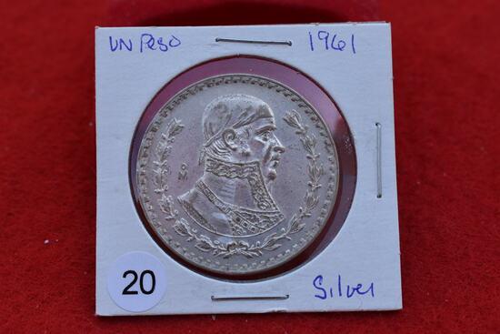 1961 Mexican Silver Peso
