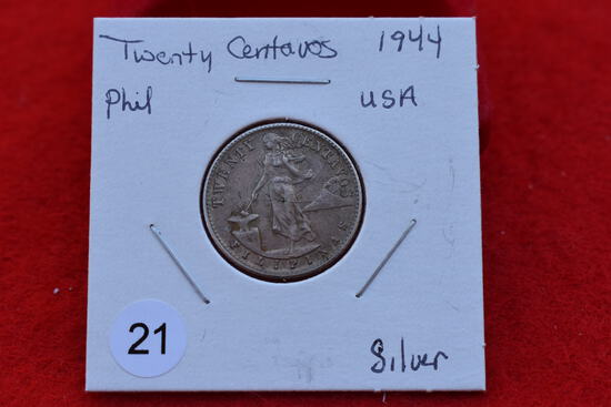 1944 Filipinas Twenty Centavos