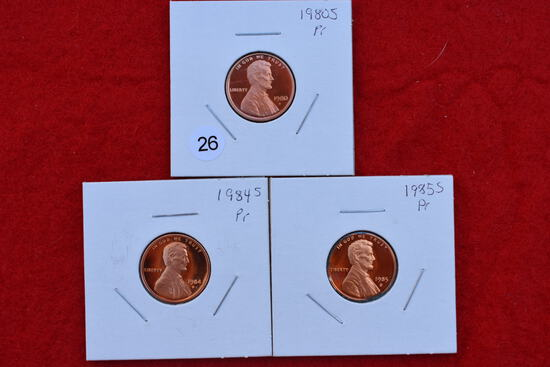 3 - Proof Lincoln Cents