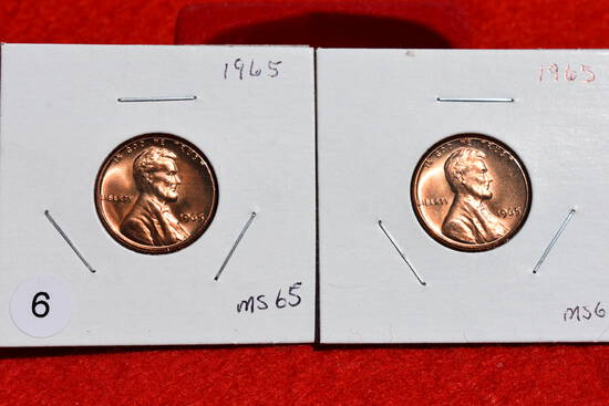 2 - 1965 Lincoln Cents Ms65
