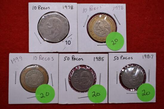5 - Mexican Coins
