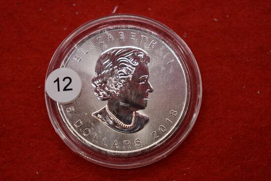 2018 Canadian Silver Maple Leaf 1oz