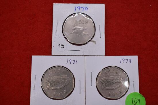 3 - Irish 50 Pence