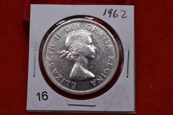 1962 Canadian Silver Dollar - Bu