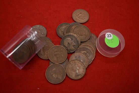 25 - Great Britain Half Cents
