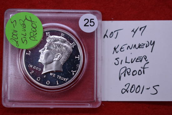 2001s Silver Proof Kennedy Half