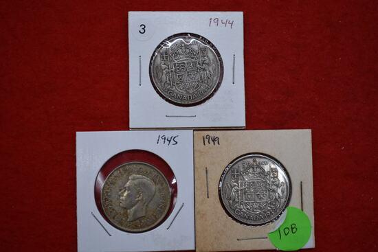 3 - Silver Canadian Havles