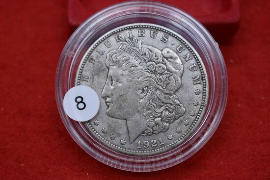 1921d Morgan Dollar - Au