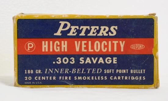 Peters High Velocity .303 Savage Full Box