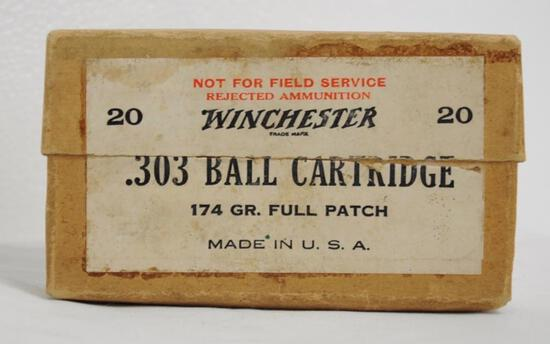 Winchester .303 Ball Cartridge 174 Gr. Full Box