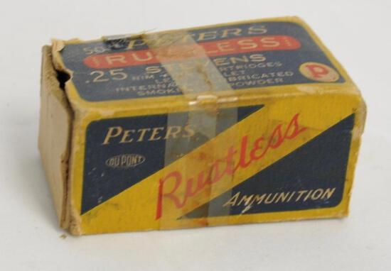 Peters .25 Stevens Rimfire Cartridges (Partial)