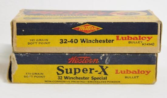 Western Super-X 32 Winchester & 32-40 Winchester - TWO Full Boxes