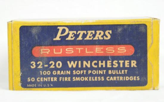 Peters Rustless 32-20 Winchester 100 Gr. Full Box