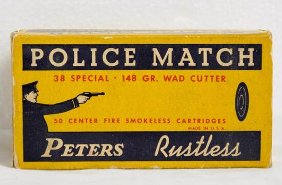 Peters Police Match 38 Spl. Wad-Cutters Full Box