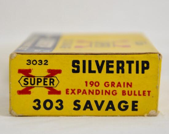 Super X 303 Savage Silvertip Full Box