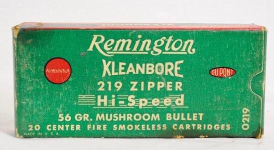 Remington Kleanbore 219 Zipper 56 Gr. Full Box
