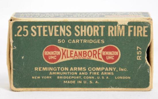 Remington .25 Stevens Short Rimfire Full Box