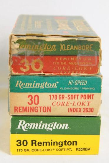 Remington 30 Rem. 3 Boxes of Ammunition