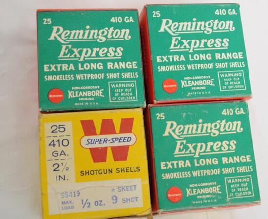 Rem/Win Vintage 410 Ga. 4 Boxes