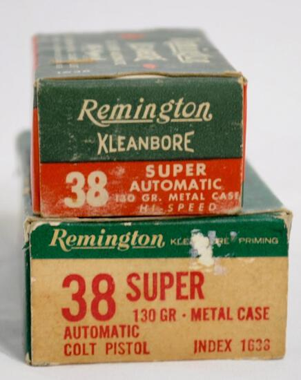 Remington 38 Super Automatic 130 Gr. (2 Boxes)